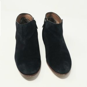 Sam Edelman Petty Sz 8M Black Leather Suede Boots